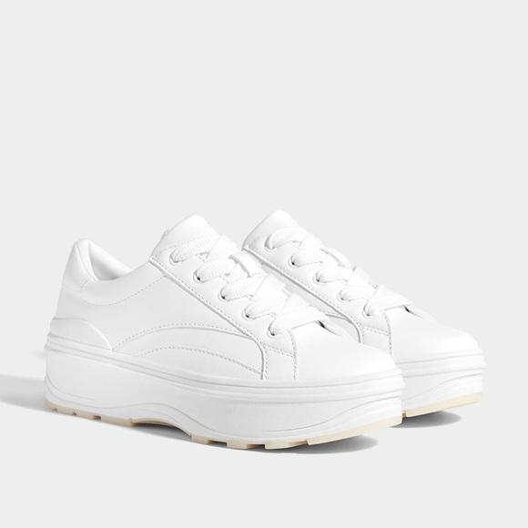 timeless design the best 100% authentic Bershka Shoes   Nwt Platform White Sneakers   Poshmark